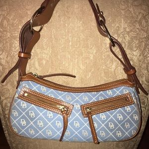 Dooney & Bourke Monogram and Leather Bag! Vintage!